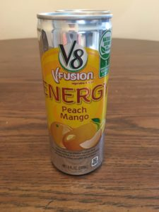 Peach Mango V8 VFusion Energy Drink | Aprel Phelps Downey Business Marketing Services