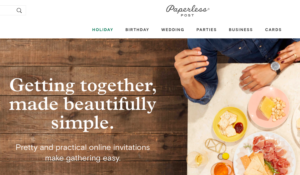 Paperless Post Home Page | Aprel Phelps Downey Business Marketing Services