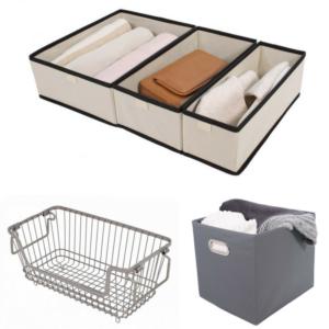home organizing bins
